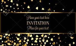 005 Dreaded Black And Gold Invitation Template Highest Quality  Design White Free Printable