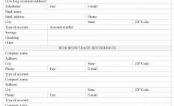 005 Dreaded Busines Credit Application Template Pdf Image  Form