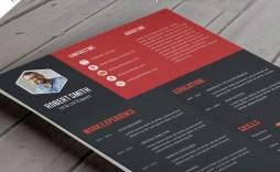 005 Dreaded Creative Resume Template Free Download Psd Idea  Cv