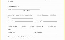 005 Dreaded Direct Deposit Form Template Example  Multiple Account Ach Authorization