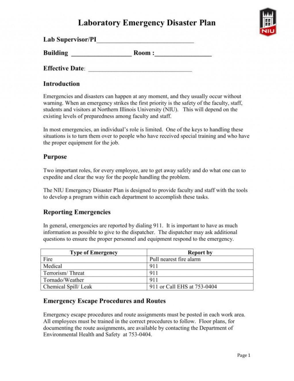 005 Dreaded Emergency Operation Plan Template High Def  For Churche Fema BasicLarge