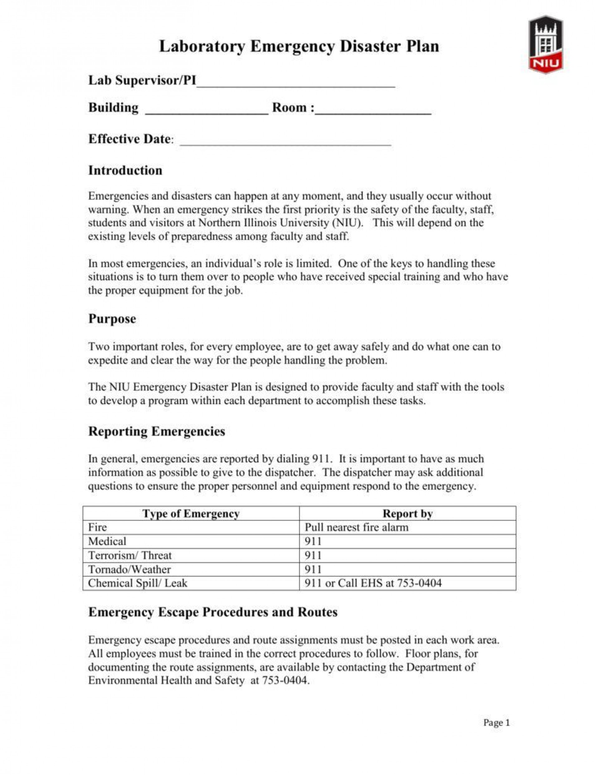 005 Dreaded Emergency Operation Plan Template High Def  For Churche Fema Basic1920