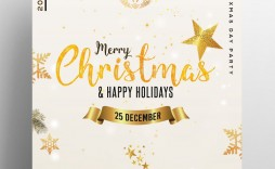 005 Dreaded Free Holiday Flyer Template Image  Printable Christma Word Sale Party