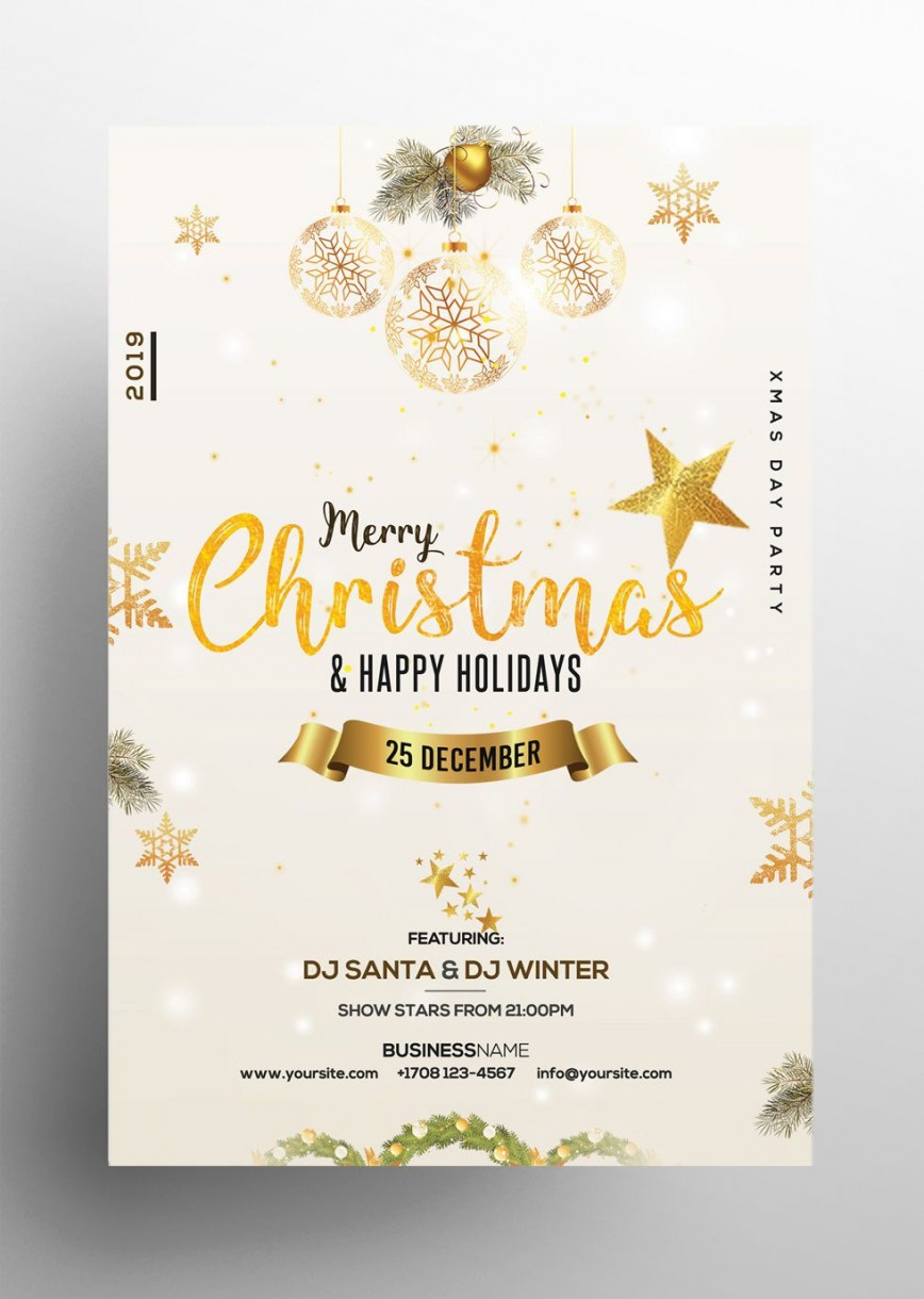 005 Dreaded Free Holiday Flyer Template Image  Party Printable Christma Word