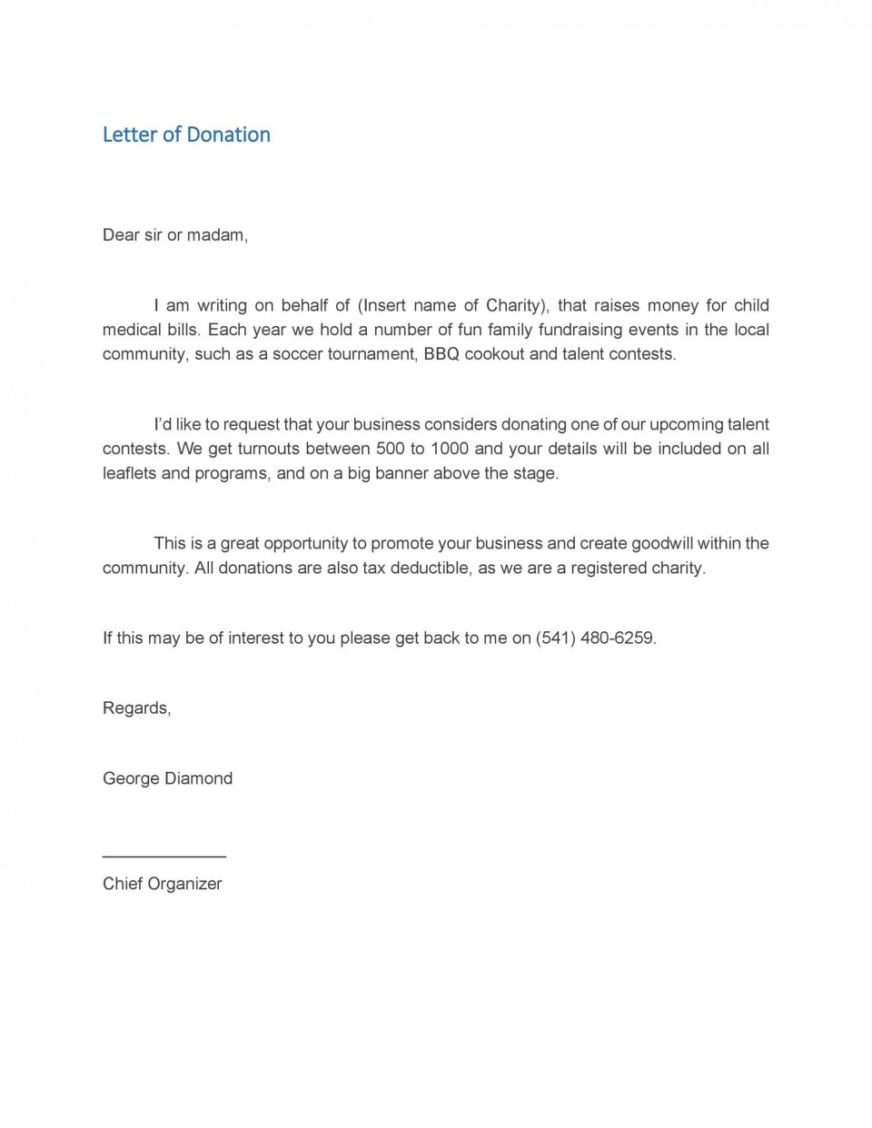 005 Dreaded Fund Raising Letter Template Sample  Fundraising For Mission Trip School Of A Nonprofit Organization960