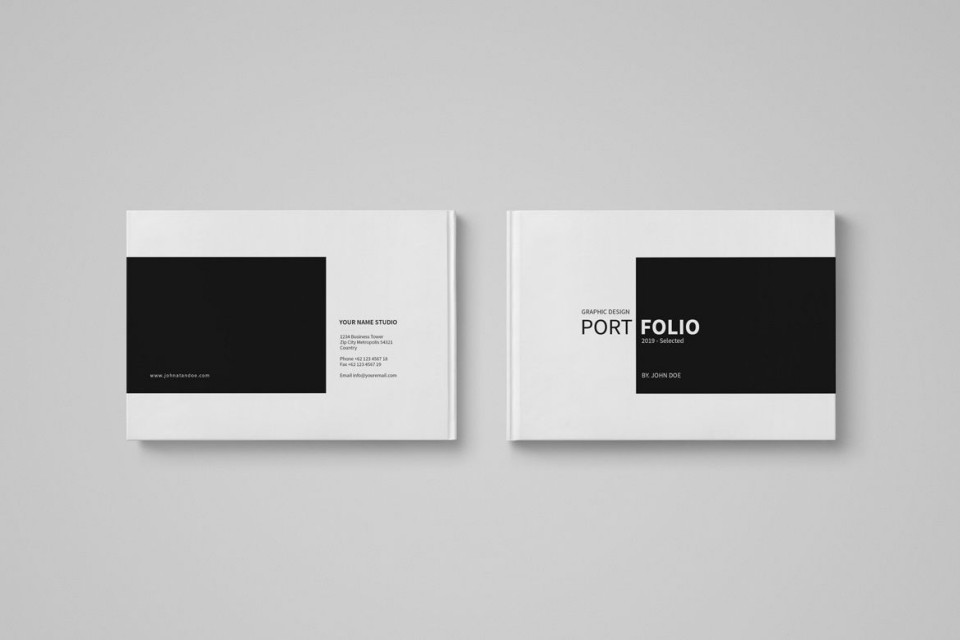 005 Dreaded In Design Portfolio Template Sample  Free Indesign A3 Photography Graphic Download960