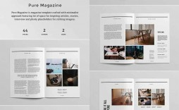 005 Dreaded Magazine Layout Template Free Download Word Highest Clarity