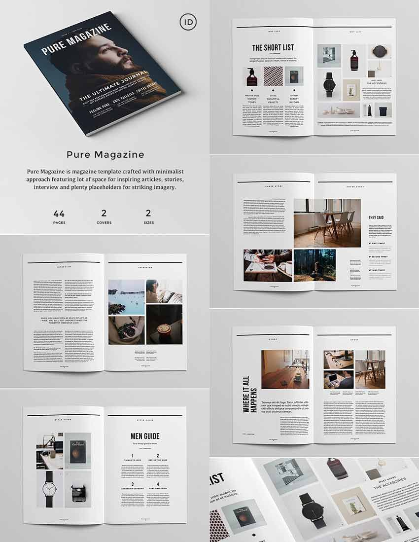 005 Dreaded Magazine Layout Template Free Download Word Highest Clarity Full
