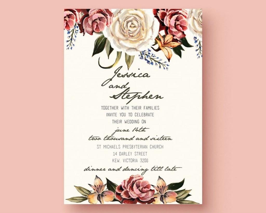 005 Dreaded Microsoft Word Wedding Invitation Template Free Download High Resolution  M EditableLarge