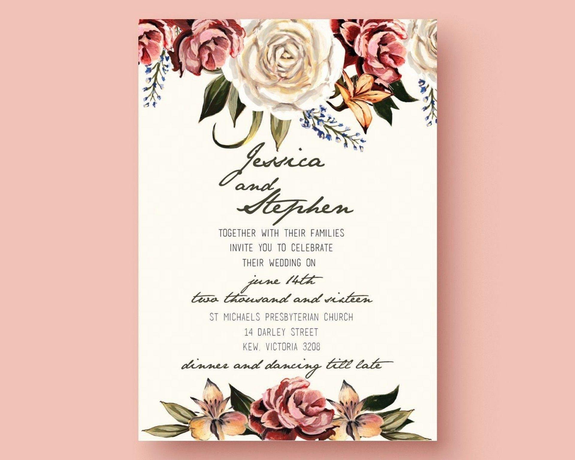 005 Dreaded Microsoft Word Wedding Invitation Template Free Download High Resolution  M Editable1920