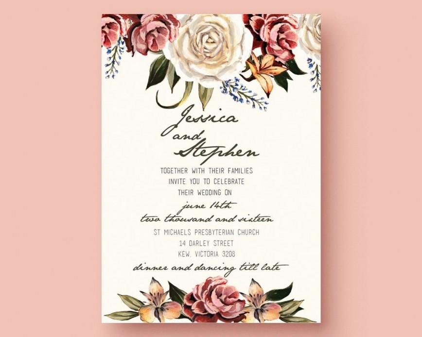 005 Dreaded Microsoft Word Wedding Invitation Template Free Download High Resolution  M Editable