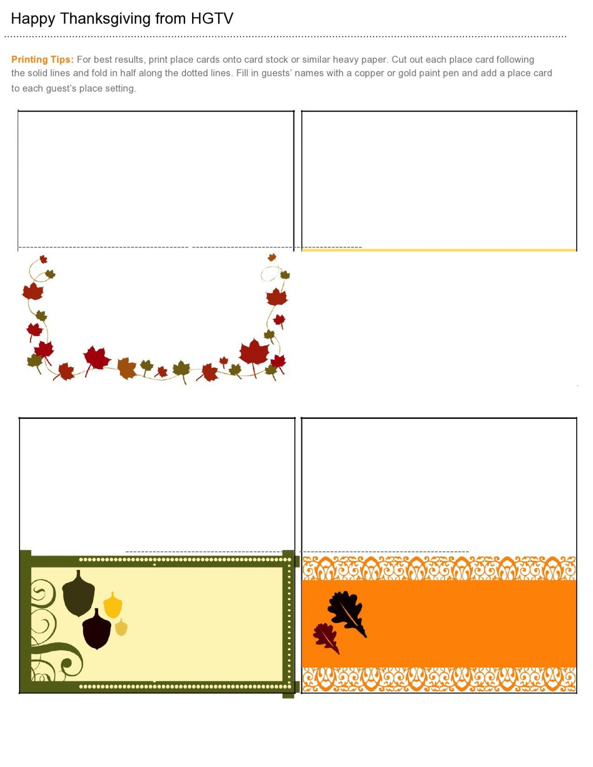 Name Place Card Template Publisher Addictionary