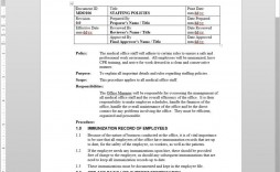 005 Dreaded Policy And Procedure Template Sample  Format Example Manual For Mental Health Free