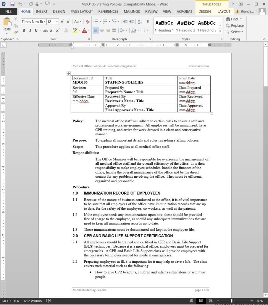 005 Dreaded Policy And Procedure Template Sample  Format Example Manual For Mental Health FreeFull
