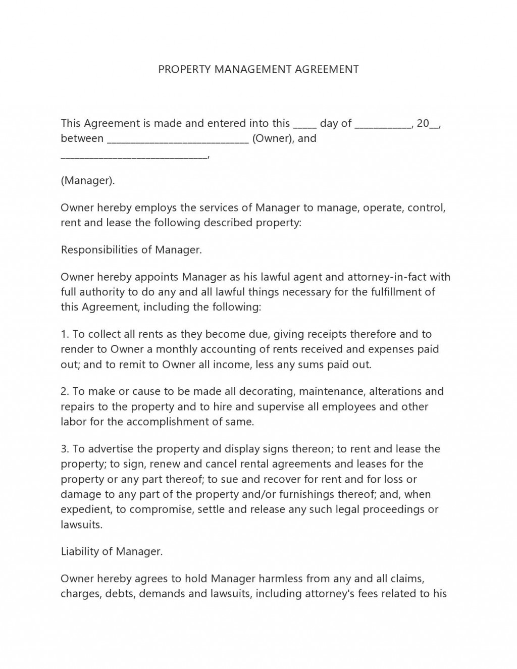 005 Dreaded Property Management Contract Template Uk High Resolution  Free Agreement CommercialLarge
