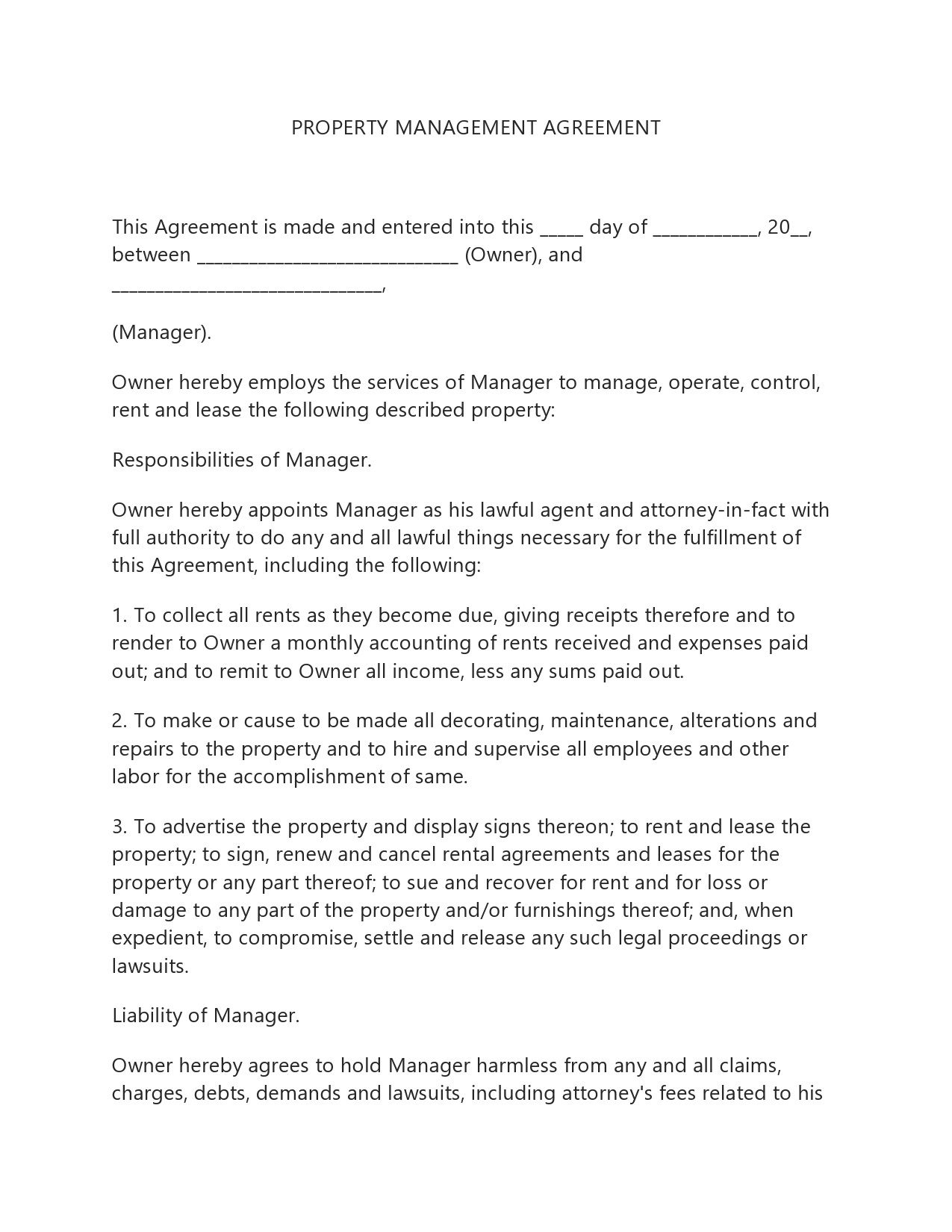 005 Dreaded Property Management Contract Template Uk High Resolution  Free Agreement CommercialFull