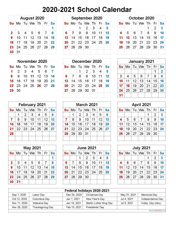 005 Dreaded School Year Calendar Template Image  Excel 2019-20 WordLarge