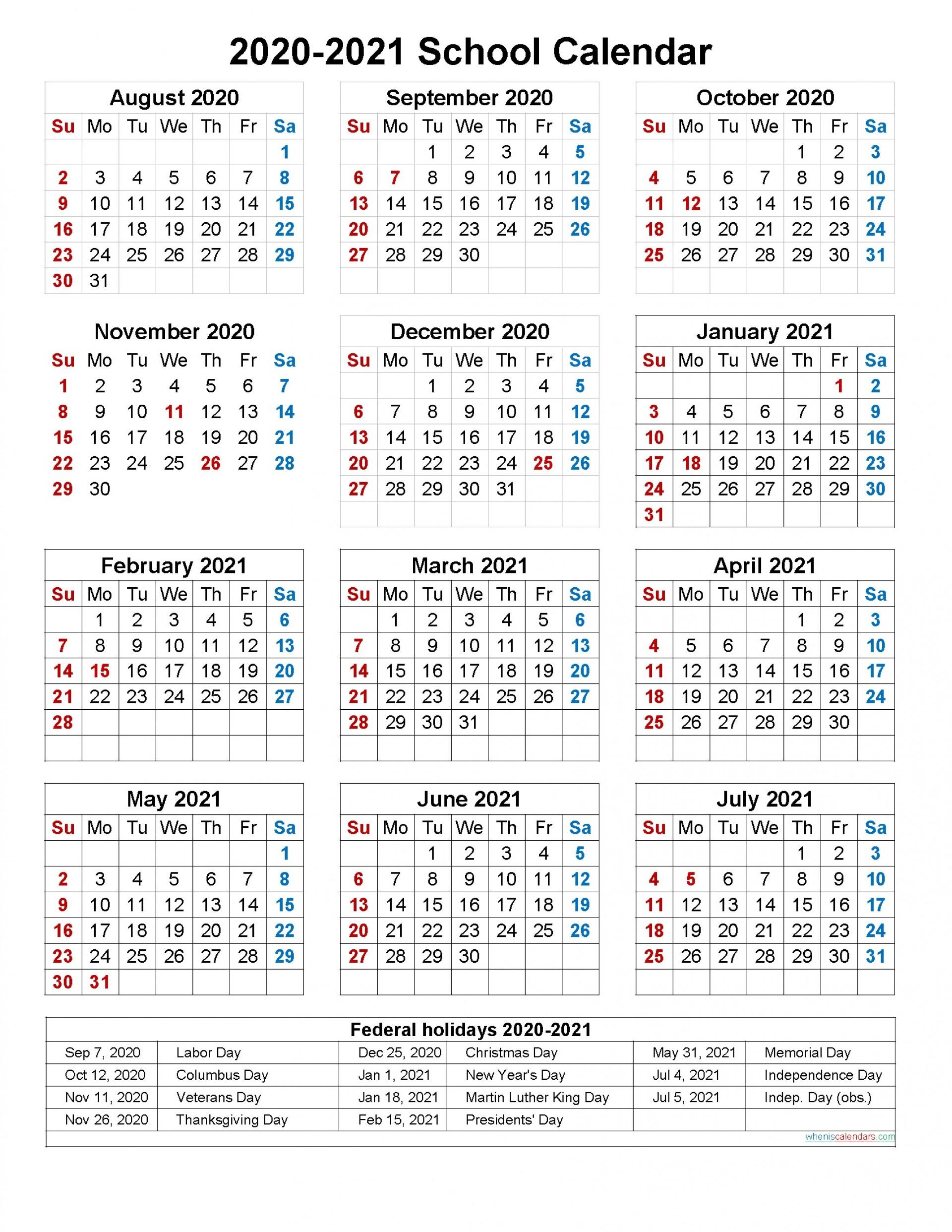 005 Dreaded School Year Calendar Template Image  Excel 2019-20 Word1920