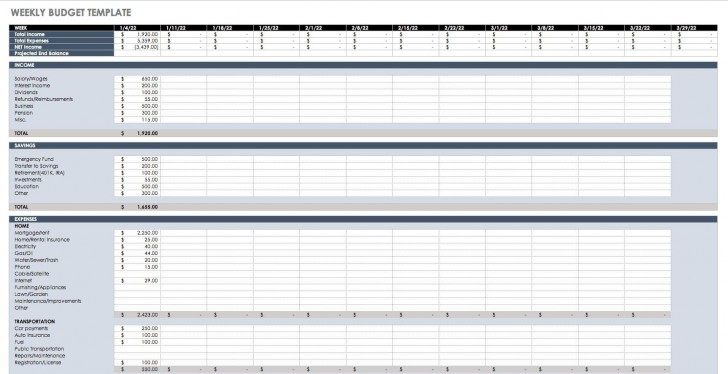 005 Dreaded Simple Weekly Budget Template Highest Quality  Planner Personal Printable728