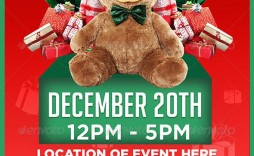 005 Dreaded Toy Drive Flyer Template Design  Holiday Download Free Word