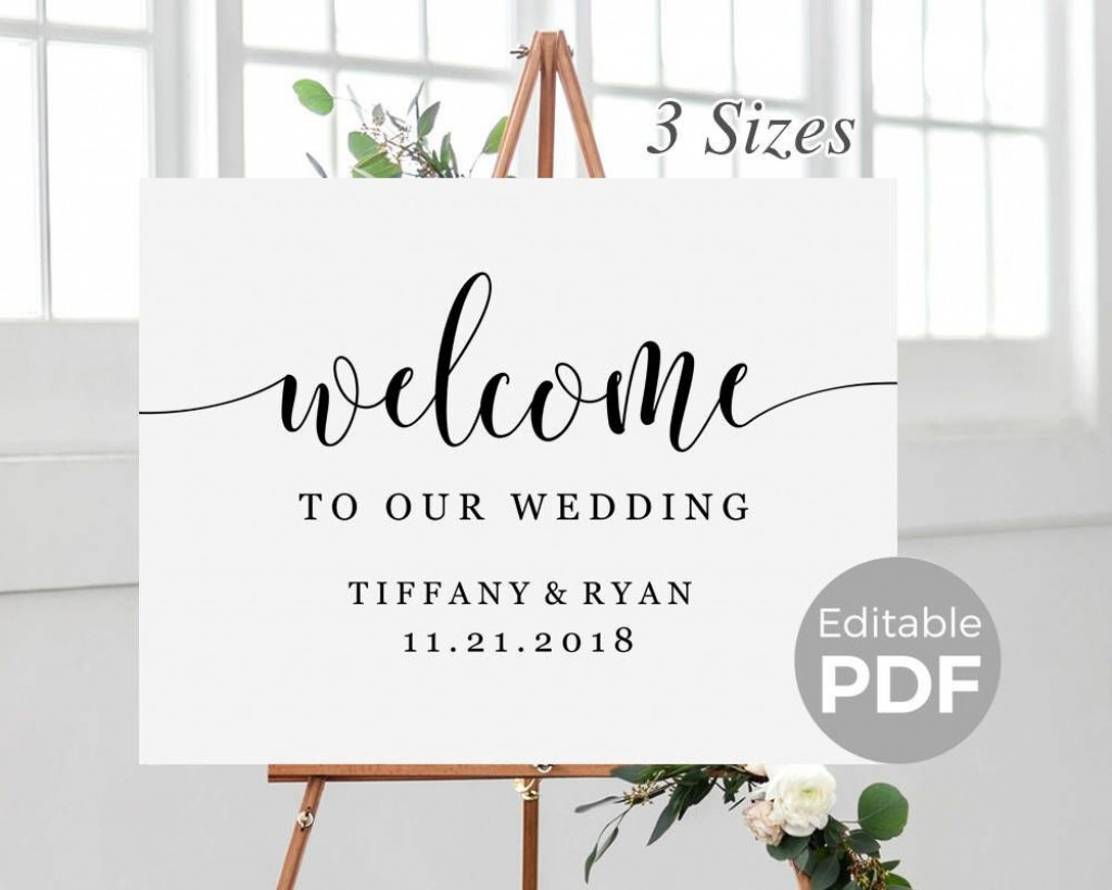 005 Dreaded Wedding Welcome Sign Template Free High Def Large