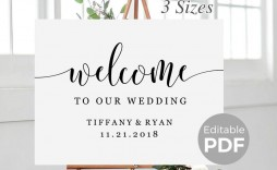 005 Dreaded Wedding Welcome Sign Template Free High Def