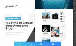 005 Excellent Best Free Responsive Blogger Template 2019 Image
