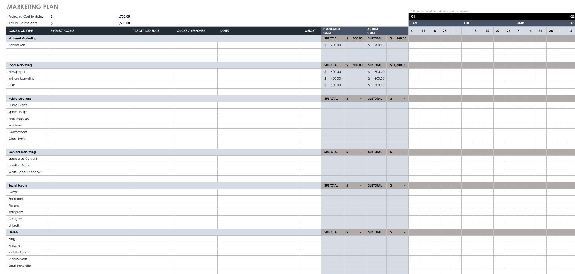 005 Excellent Busines Plan Template Excel Image  Financial Free ContinuityFull