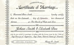 005 Excellent Certificate Of Marriage Template Image  Word Australia