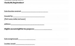 005 Excellent Charitable Tax Receipt Template Highest Quality  Donation