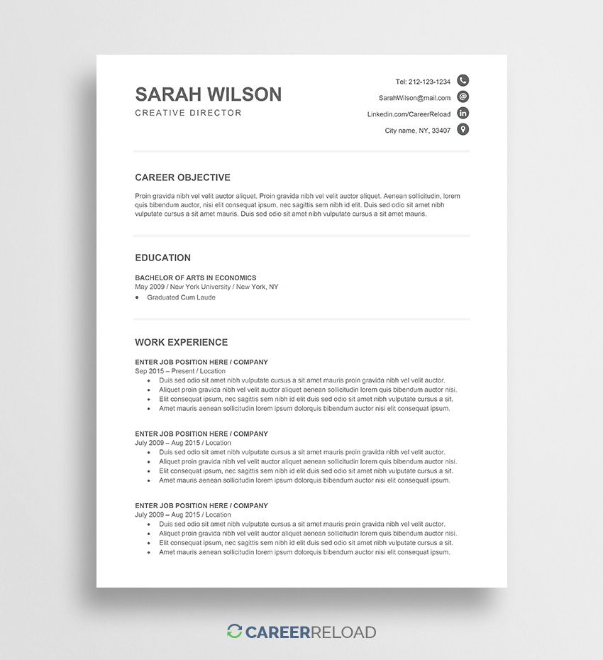 005 Excellent Entry Level Resume Template Word Download Design Full