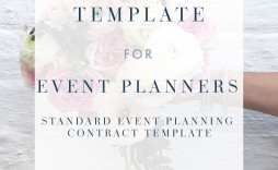 005 Excellent Event Planner Contract Template Picture  Free Download Planning