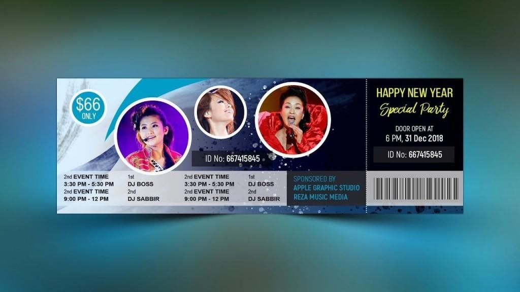 005 Excellent Event Ticket Template Photoshop High Definition  Design Psd Free DownloadLarge