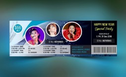 005 Excellent Event Ticket Template Photoshop High Definition  Design Psd Free Download