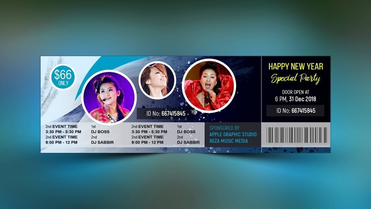 005 Excellent Event Ticket Template Photoshop High Definition  Design Psd Free DownloadFull