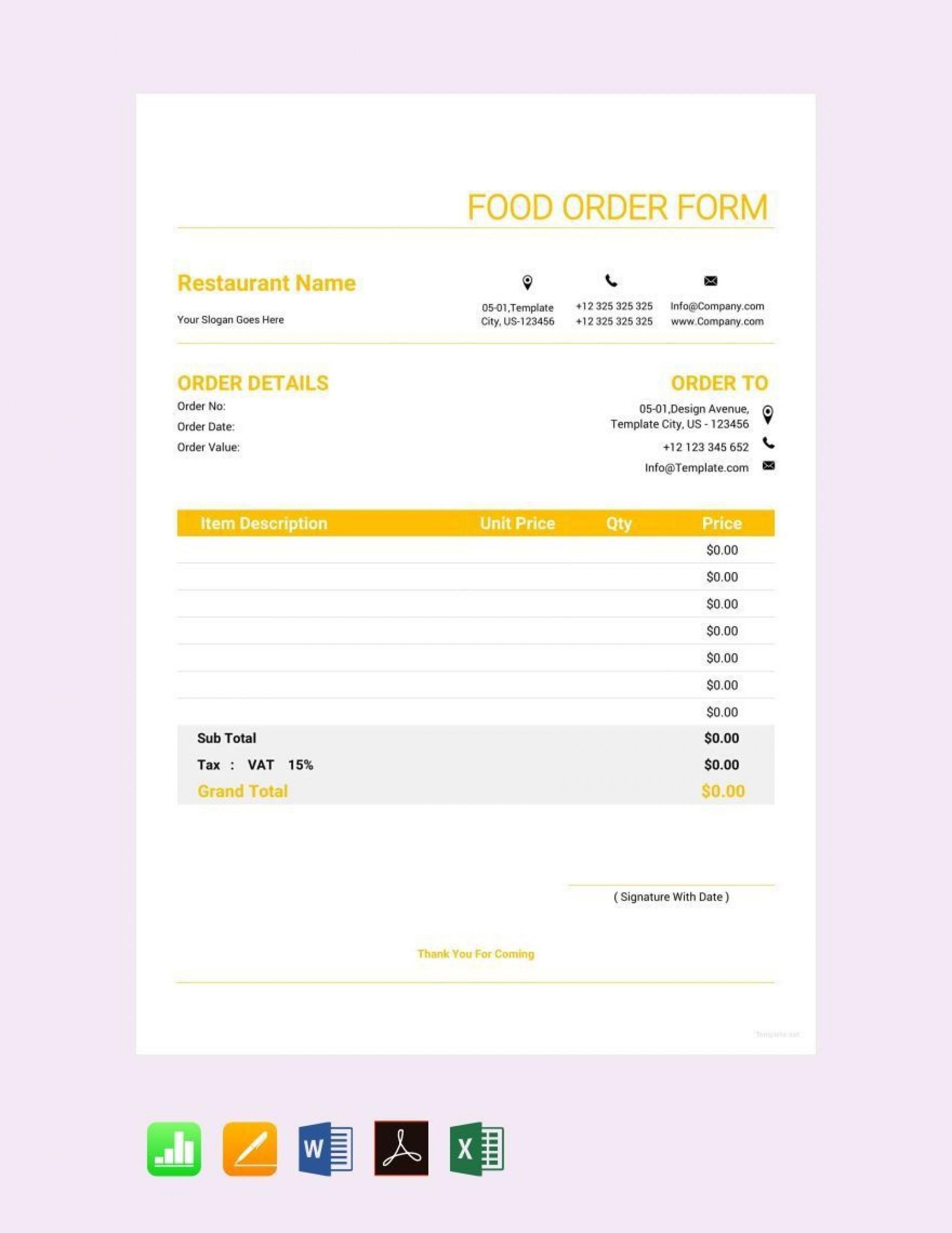 005 Excellent Food Order Form Template Word Design 1920