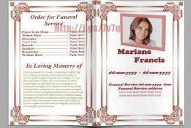 005 Excellent Free Editable Celebration Of Life Program Template Design