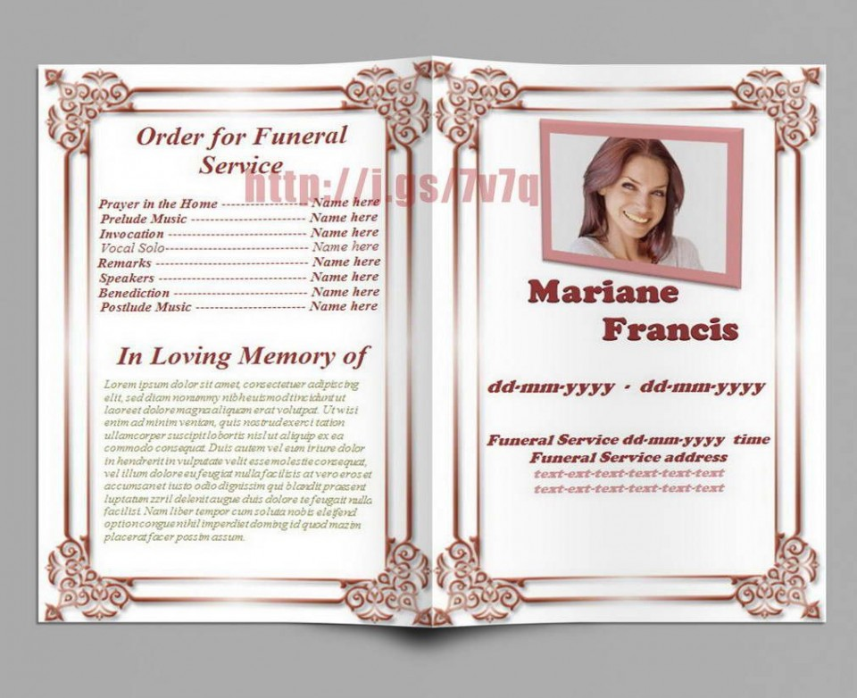005 Excellent Free Editable Celebration Of Life Program Template Design 960