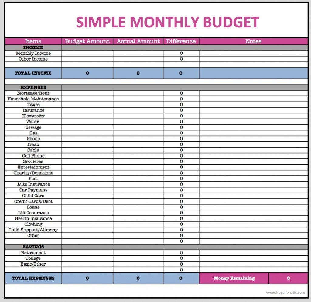005 Excellent Free Household Budget Template Inspiration  Templates Printable Form Home ExcelLarge