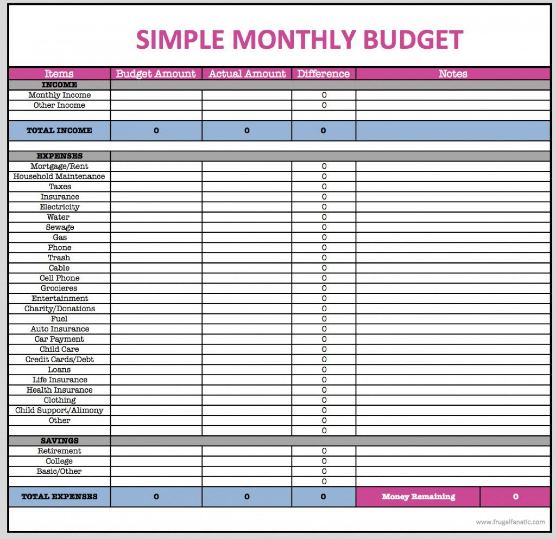 005 Excellent Free Household Budget Template Inspiration  Templates Printable Form Home Excel1920