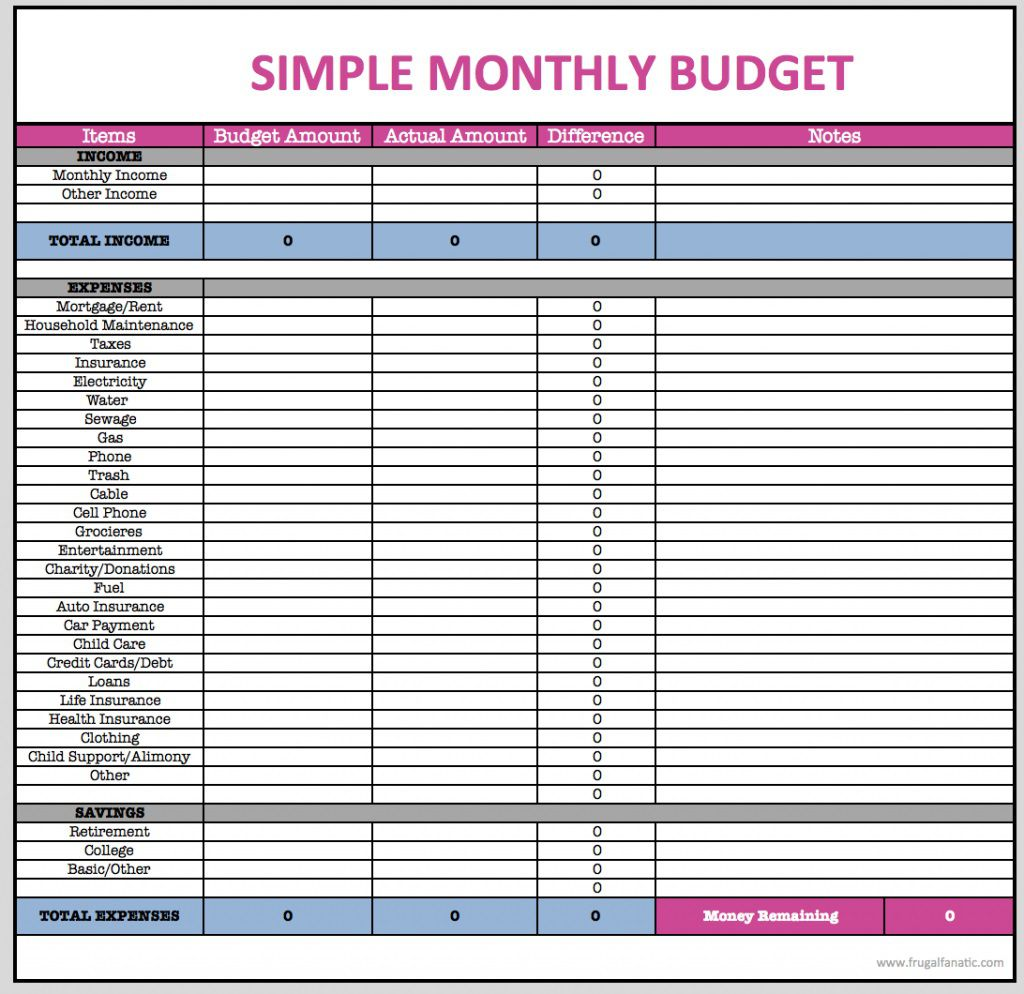 005 Excellent Free Household Budget Template Inspiration  Templates Printable Form Home ExcelFull