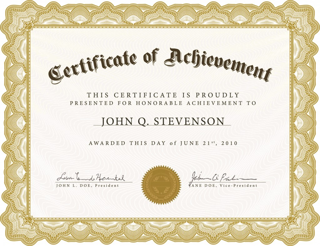 005 Excellent Free Printable Blank Certificate Template Image  Templates Gift Of AchievementLarge