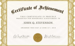 005 Excellent Free Printable Blank Certificate Template Image  Templates Gift Of Achievement