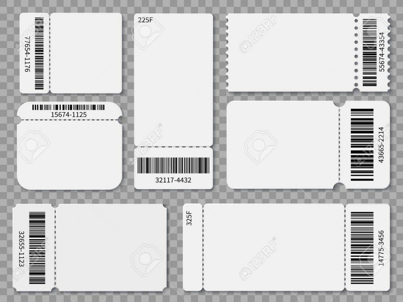 005 Excellent Free Printable Ticket Template Sample  Editable Airline Christma For Gift1400
