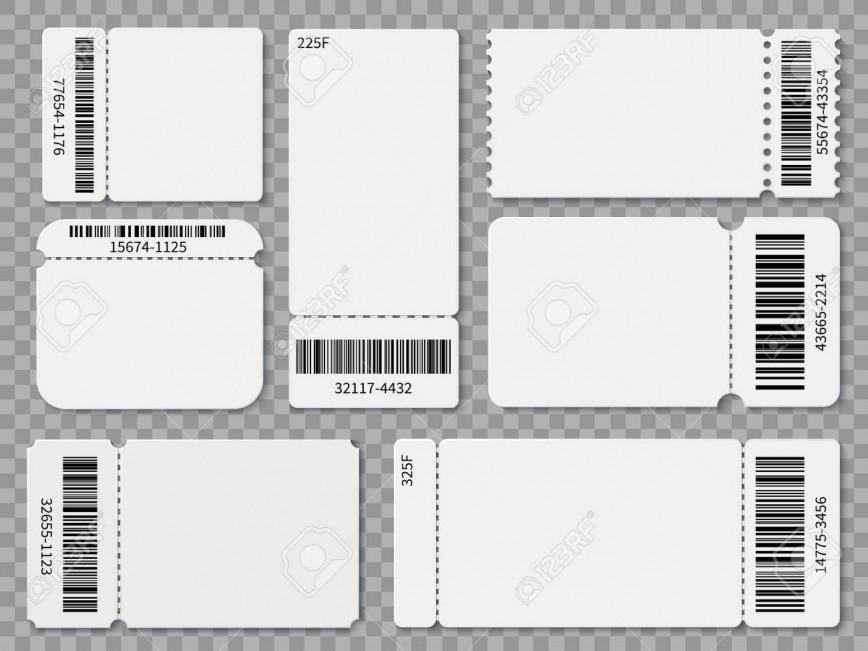 005 Excellent Free Printable Ticket Template Sample  Editable Airline Christma For Gift868