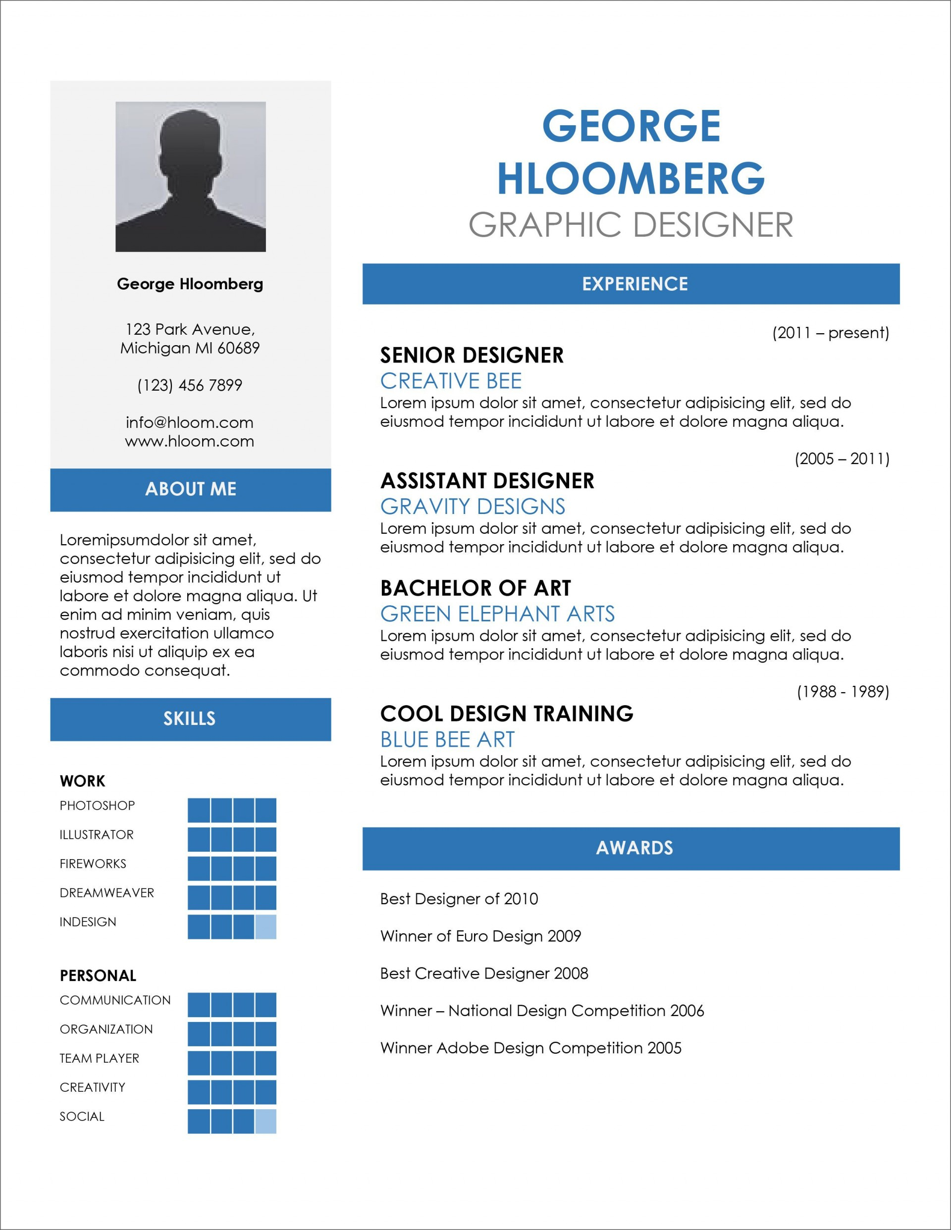 005 Excellent Free Resume Template Microsoft Word 2010 Picture  Cv Download1920
