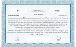 005 Excellent Free Stock Certificate Template Design  Word Form Downloadable