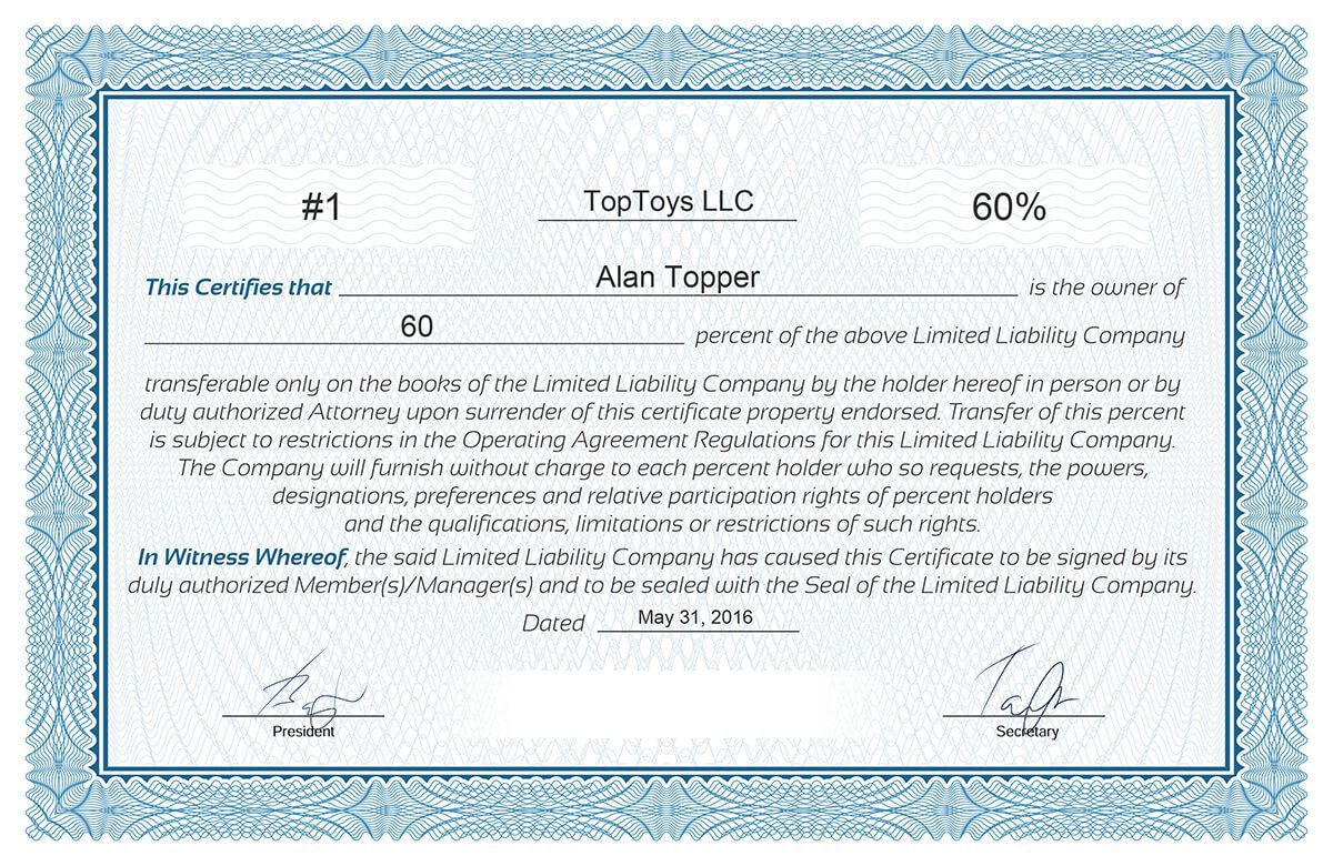 005 Excellent Free Stock Certificate Template Design  Word Form DownloadableFull