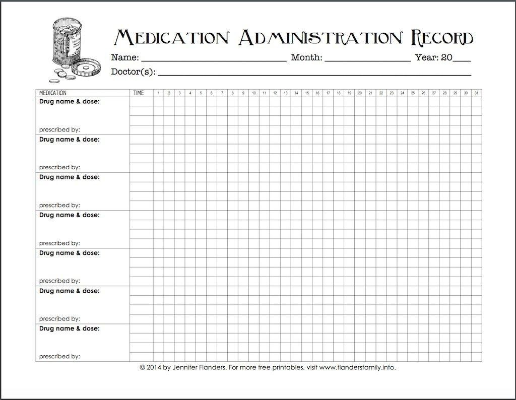 005 Excellent Medication Administration Record Form Download Highest Quality Large
