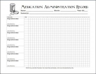005 Excellent Medication Administration Record Form Download Highest Quality 320